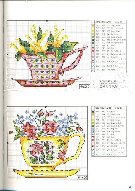 Схемы чай и кофе - Схемы вышивки крестом, вышивка. - Pinterest 10